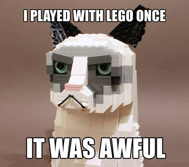 I played with lego once it was awful