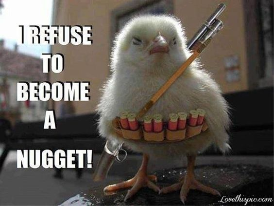 I refuse to become a nugget!