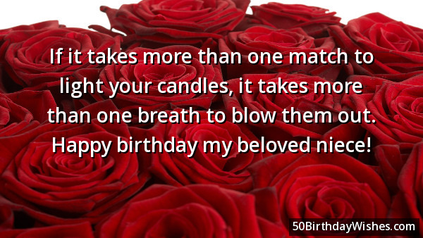 If It Take More Than One Match To Light Your Candles It Take More Than One Happy Birthday My Beloved Niece