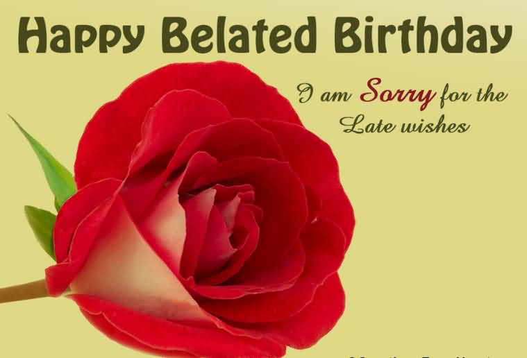 Incredible Red Rose Belated Birthday Wishes I Am Sorry For The Late