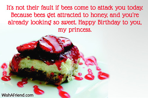 It's Not Their fault If Bees Come To Attack You Today Happy Birthday To You My Princess