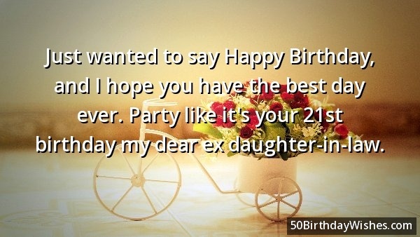 Happy Birthday Wishes Daughter In Law ~ Just wanted to say happy birthday daughter in law segerios.com