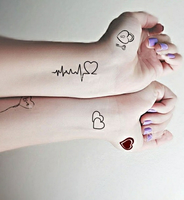 Mind Blowing Heartbeat Lock Ley Tattoo For Women Arm