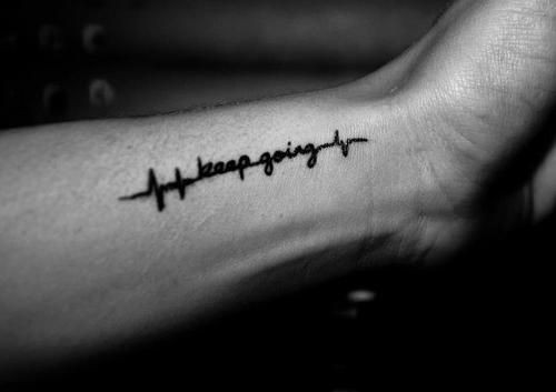 Mind Blowing Heartbeat Quote Tattoo For Men Arm