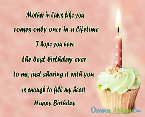 Best birthday wishes segerios mother in law like you comes only once in a little i hope you have happy m4hsunfo