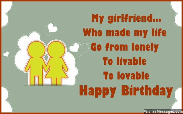 My Girlfriend Who Made My Life Go From Lonely Happy Birthday