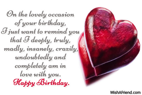 On The Lovely Occasion Of Your Birthday Love With You Happy Birthday