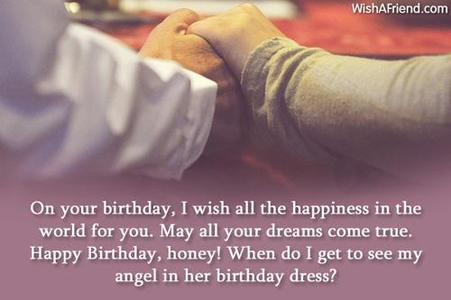 On Your Birthday I Wish All Happiness In The World For You Angle In Her Birthday Dress