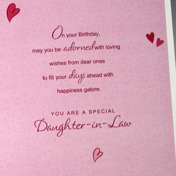 On Your Birthday may You Be Adorned With Love You Are A Special Daughter in Law