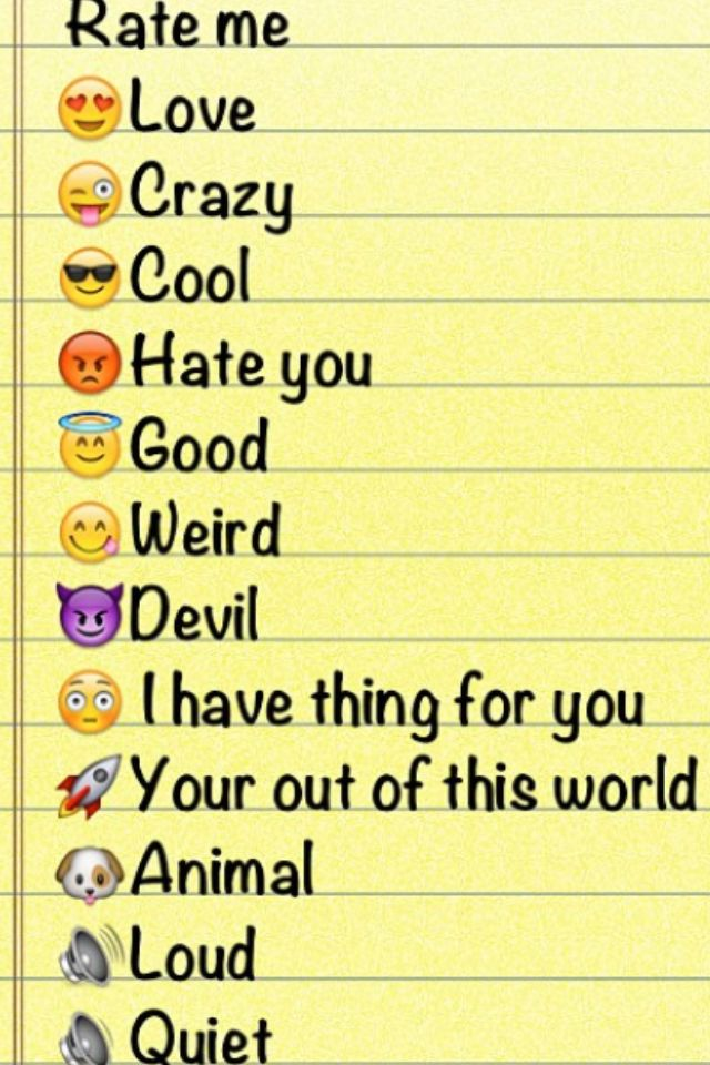 Rate me love crazy cool hate you good weird devil i have thing for you your out of this world
