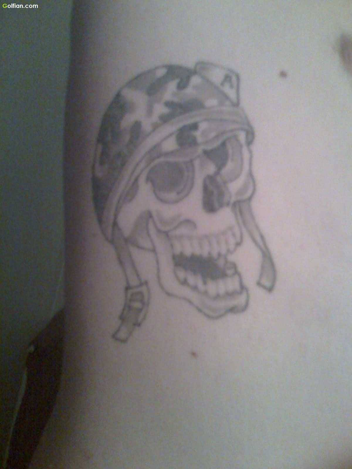 best military skull tattoos pictures. Black Bedroom Furniture Sets. Home Design Ideas