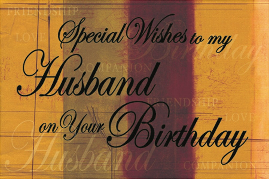 special wishes to my husband on your birthday