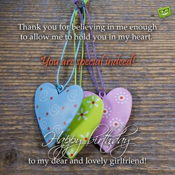 Thanks You For Believing In Me Enough To MY Dear And Lovely Girlfriend