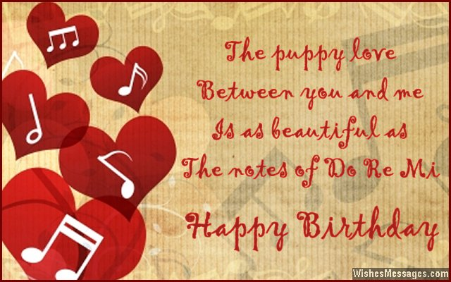 The Puppy Love Between You And Me The Notes Of Do Re Mi Happy Birthday