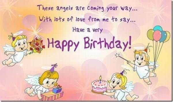 These Angels Are Coming Your Way With Lots Of Love From Me To Say Have A Very Happy Birthday
