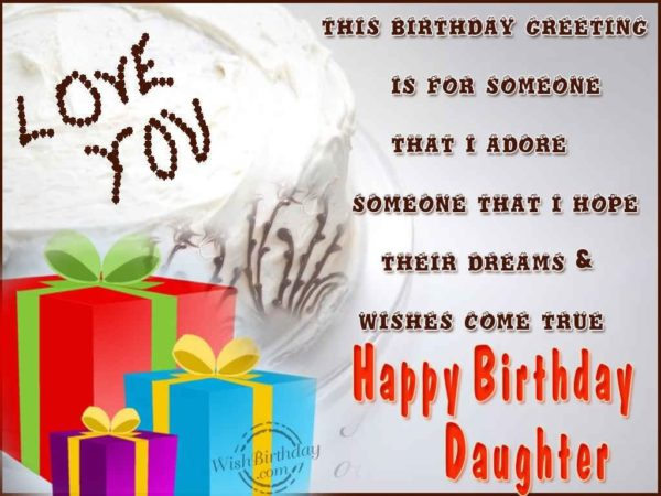Happy Birthday Step Daughter Greeting Card