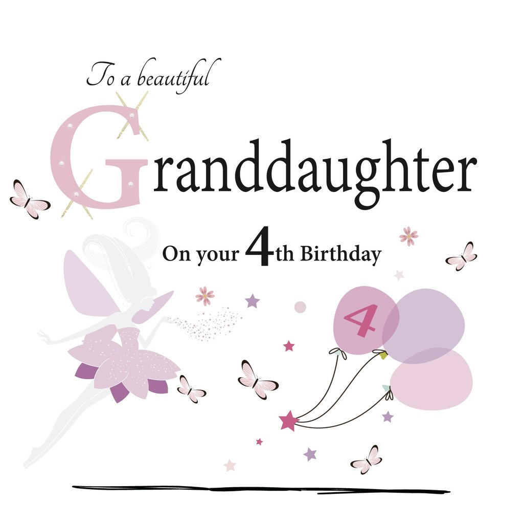 To A Beautiful Granddaughter On Your 4th Birthday