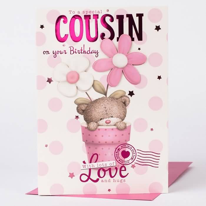 Cousin birthday wishes segerios to a special cousin on your birthday love and hugs m4hsunfo