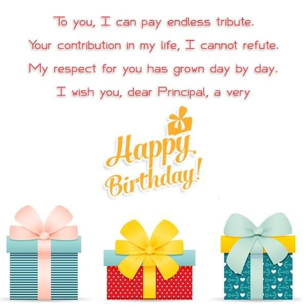 Birthday Wishes For Principal Of School