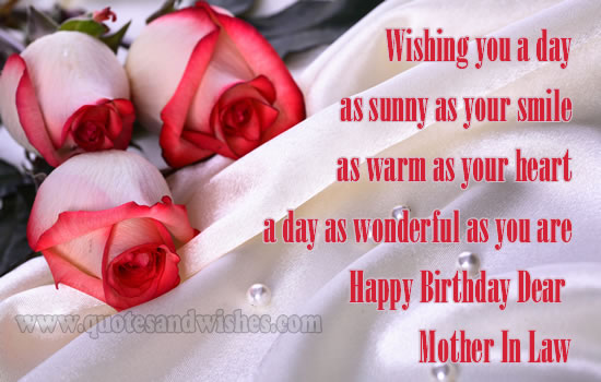 Mother in law poems for funeral segerios segerios birthday mother in law wishing you a day as sunny as your smile as warm as your heart a day m4hsunfo