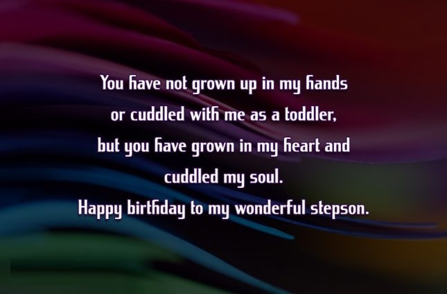 I Love My Stepson Birthday Quotes
