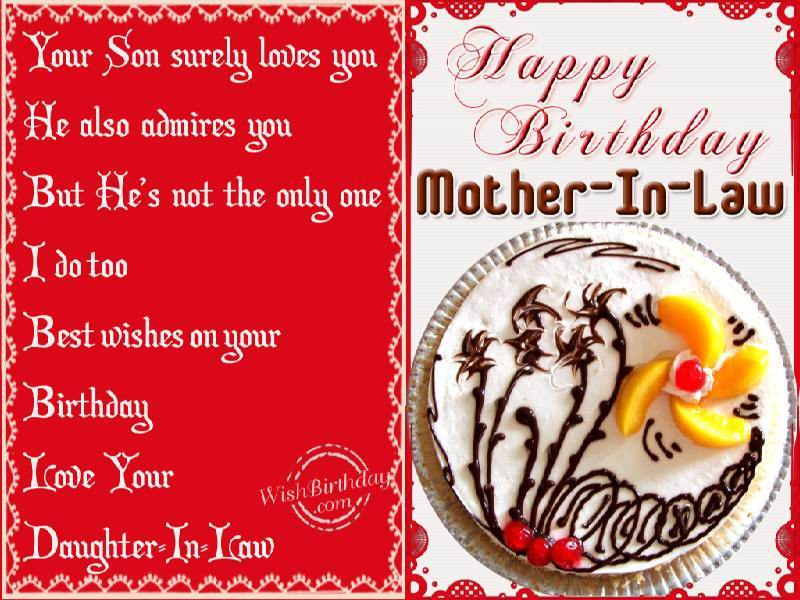 Your Son Surely Loves You Happy Birthday Mother In Law