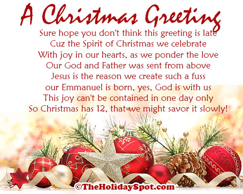 Christmas card sayings quotes segerios segerios a christmas greeting sure hope you dont think greeting is late m4hsunfo