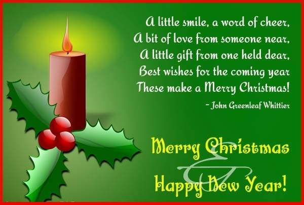 a little smile a word of cheer merry christmas
