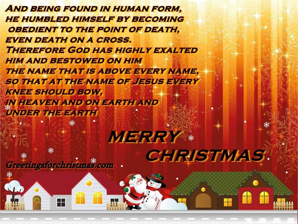 And Being Found In Human Form Merry Christmas