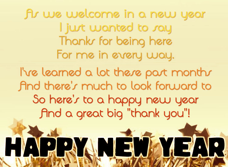 As We Welcome In A New Year I Just Wanted To Say Happy New Year
