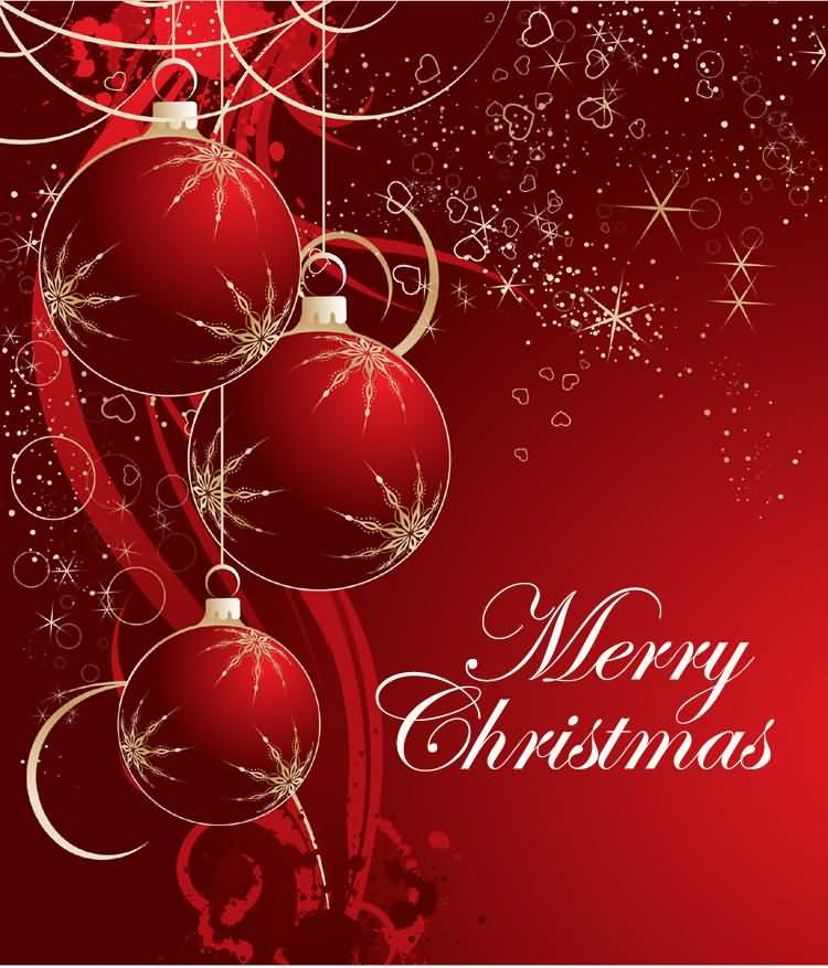 Beautiful Merry Christmas Wishes Image