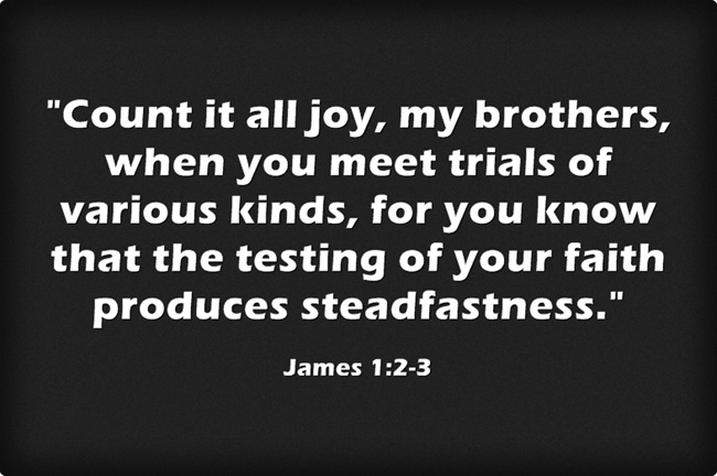 Count It All Joy My Brothers When You Meet Trials Of Various Kinds