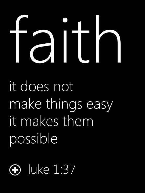 Faith it does not make things easy it makes them possible (2)