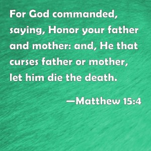 For God Commanded Saying Honor Your Father And Mother and He That Curses Father Or Mother - Matthew 154