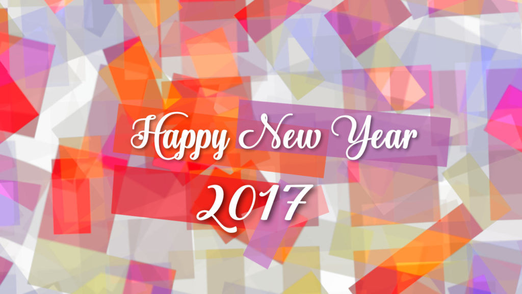 happy new year 2017 greeting e card