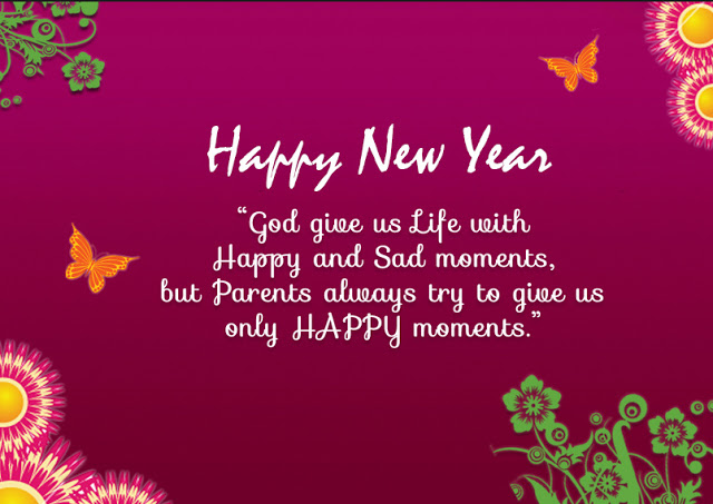 happy new year god give us life with happy