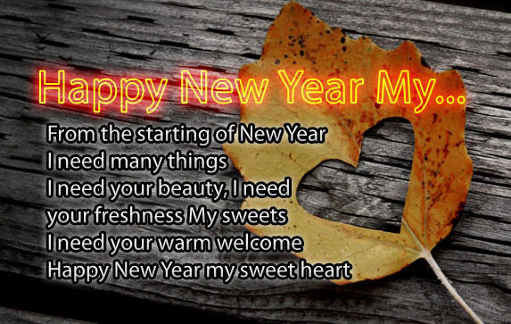 happy new year my from the starting of new year