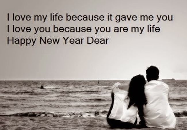 I Love My Life Because It Gave Me You Happy New Year Dear