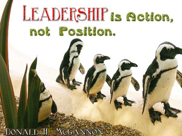 Leadership is action, not position1