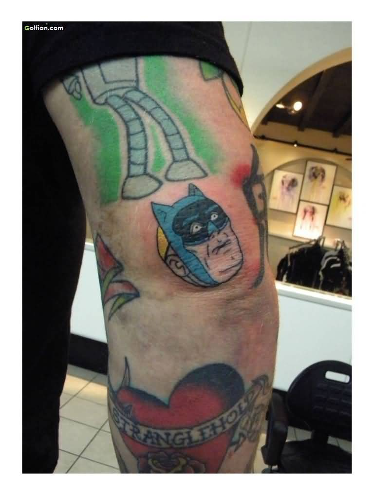 Most Amazing Animated Batman Tattoo Made On Men Elbow