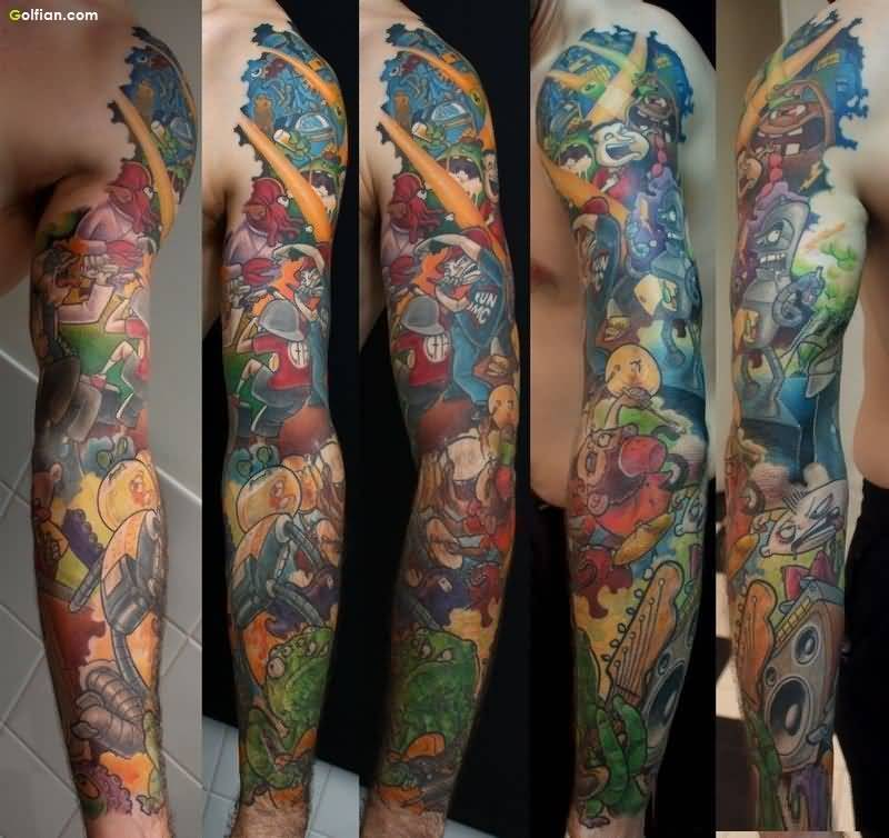 150 most attractive animated tattoos designs and ideas collection. Black Bedroom Furniture Sets. Home Design Ideas