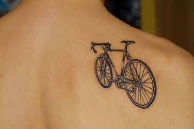 Most Amazing Bicycle Tattoo Idea For Men Back Body