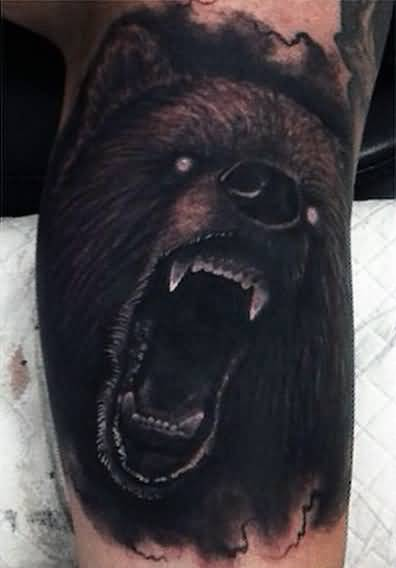simple bear tattoo design for inner arm. Black Bedroom Furniture Sets. Home Design Ideas
