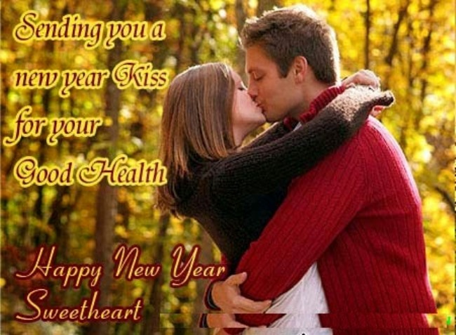 sending you a new year kiss for your good health happy new year sweetheart