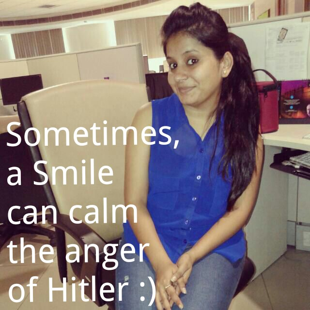 Sometimes A Smile Can Calm The Anger Of Hitler