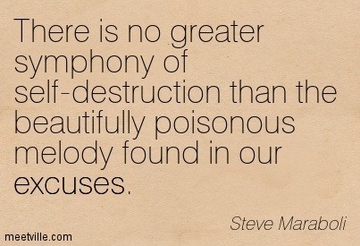 There is no greater symphony of self destruction than the beauty - Steve Maraboli