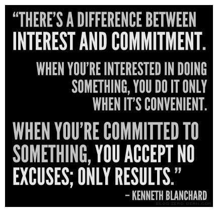 Theres a difference between interest and commitment - Kenneth Blanchard