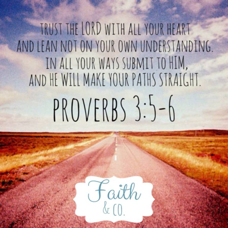 Trust The Lord With All Your Heart And Learn Not On Your Own Understanding