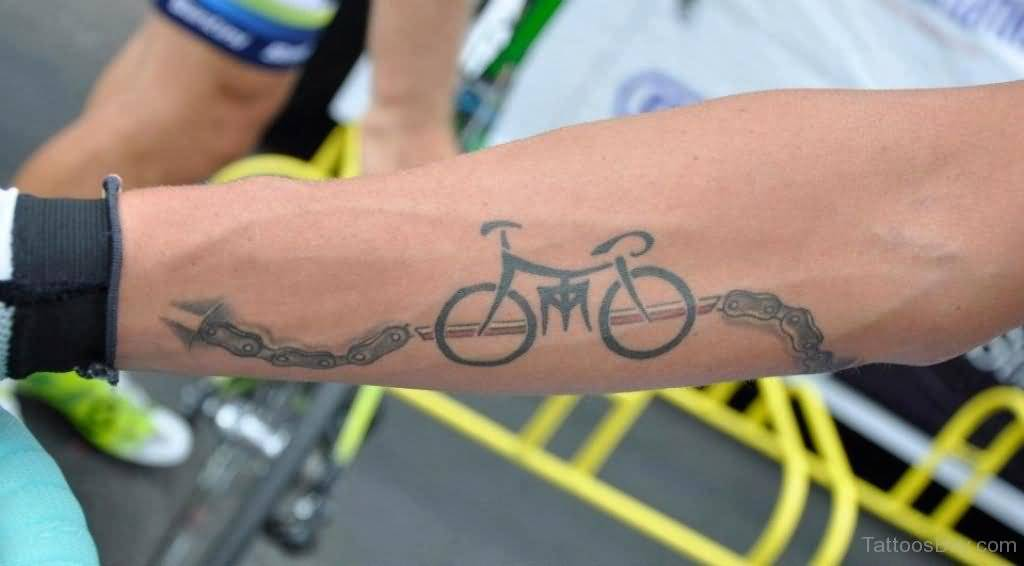 Ultimate Bicycle Chain Tattoo For Men Forearm