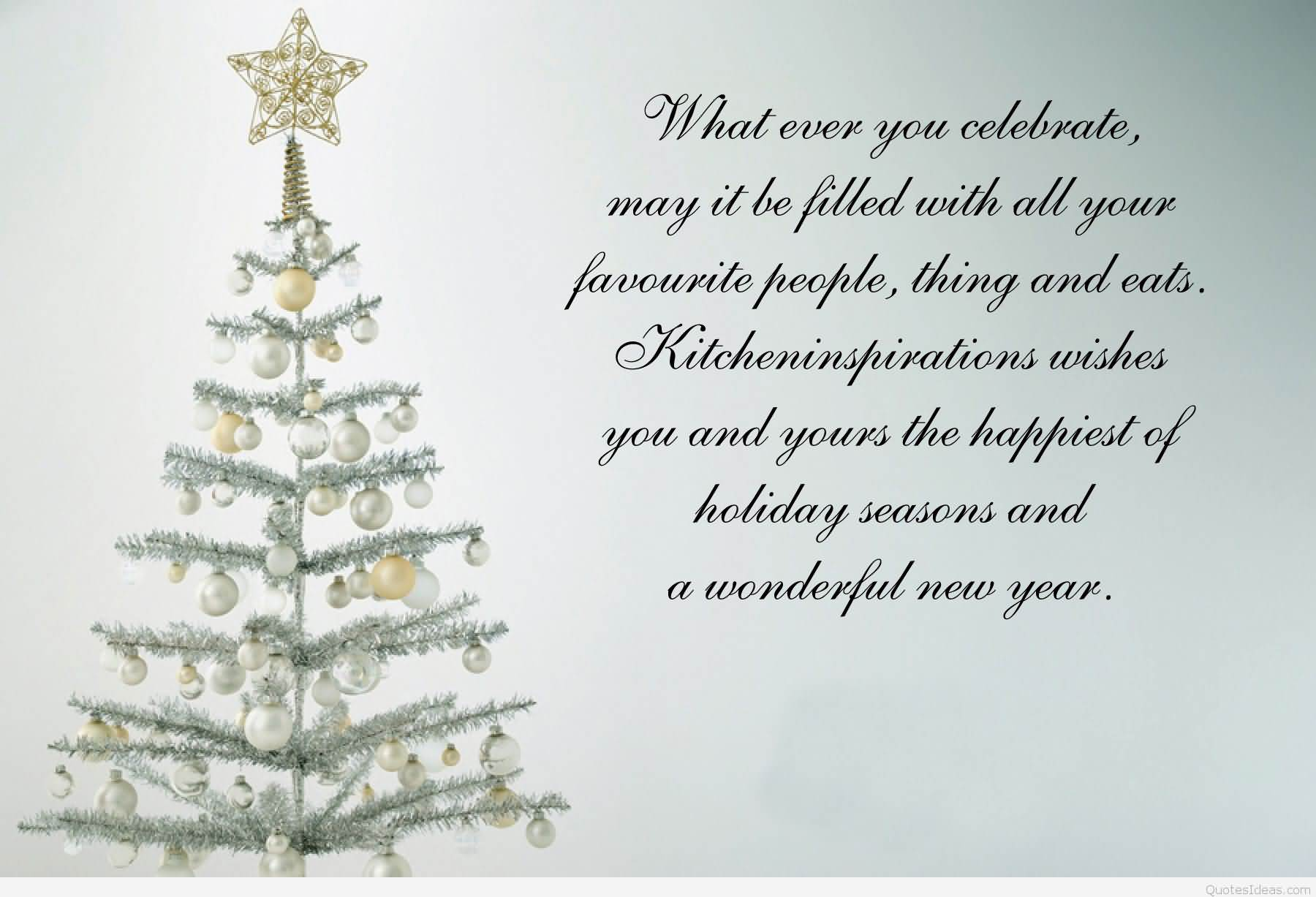 Religious christmas card sayings segerios segerios what ever you celebrate may it be filled with all your favorite a wonderful new year kristyandbryce Gallery